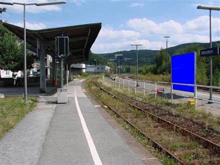 Bahnhof Sicht Bahnsteig 1, 57439, Attendorn