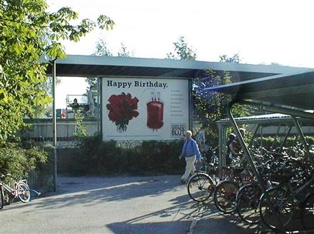 S-Bf Gröbenzell, RS am Zugang beim Fahrradständer, 82194, Mitte