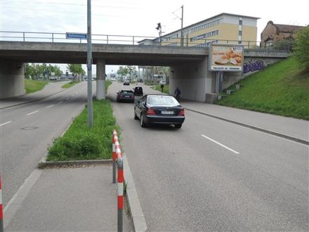 Berliner Allee/Berliner Ring vor DB-Brücke saw. CS, 79114, Betzenhausen