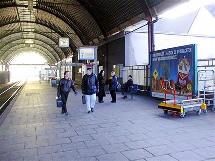 Hbf, Bahnsteig,Gleis 1, Hallenwand,3. Standort, 41061, Stadtmitte